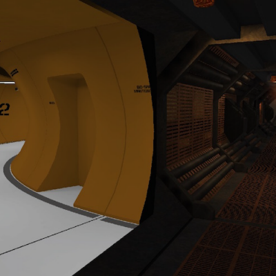 Sci-Fi Film Corridors Re-Purposed as a Videogame Maze
