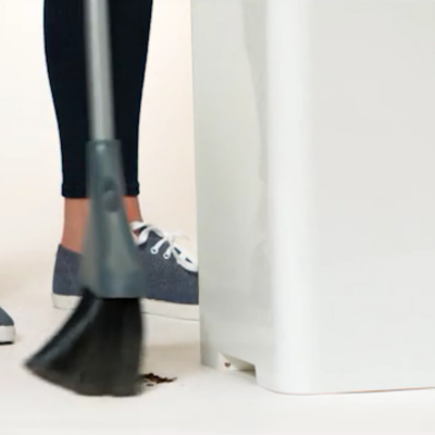 A Trash Can that Vacuums Dirt and Dumps It in the Bag For You