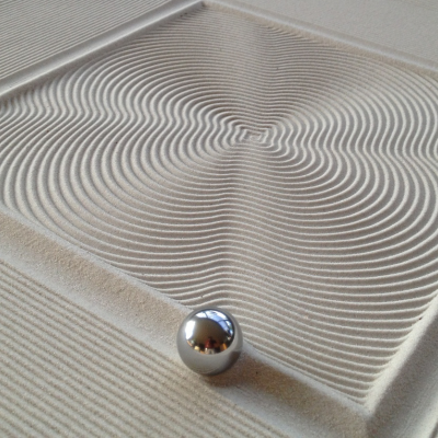 Using A Steel Ball Motorized Magnets And Sand To Draw Cnc