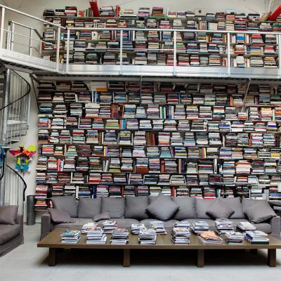 Karl Lagerfeld's Sideways Library