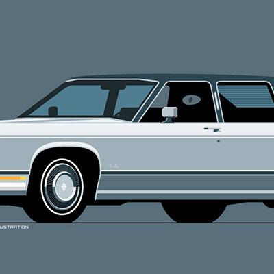 Ex-Industrial-Designer's Hyper-Clean Vintage Car Illustrations