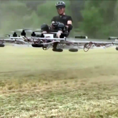 A Driverless, Flying Version of Uber: The Quadro is a Single-Passenger Autonomous 20-Rotor Drone
