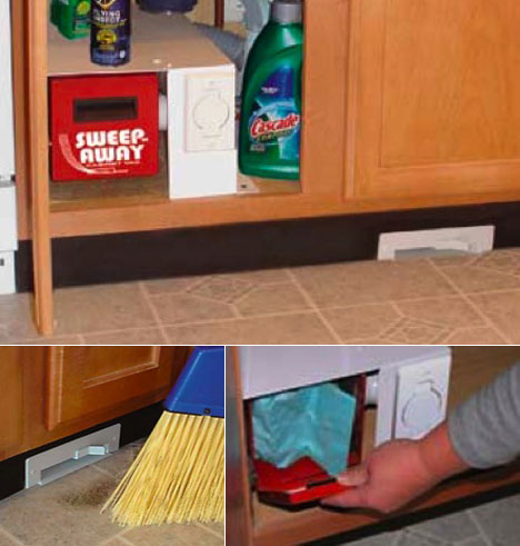 The Sweep Away Cabinet Vac Is A Vacuum Unit That You Install In Your  Kitchen Cabinet, Along With An Inlet That Goes In The Toekick.