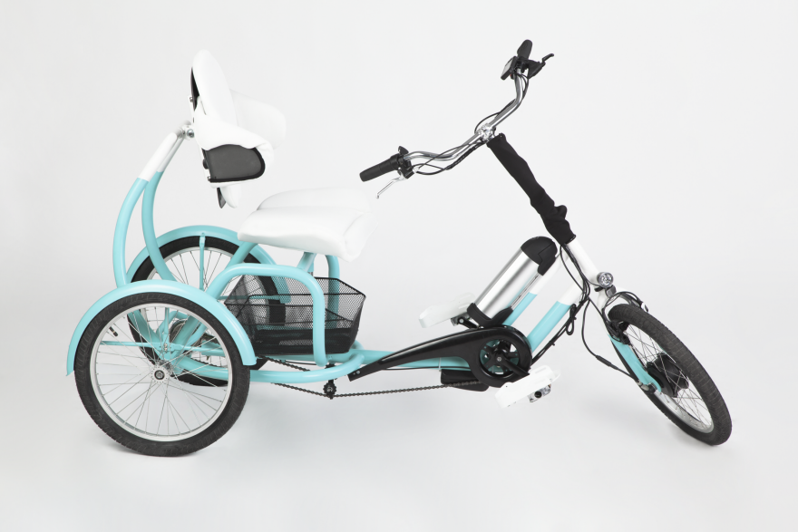 The CERO e-tricycle for adults features a low center of gravity, a  supported back rest and front steering. The seat's height, the backrest's  height and ...