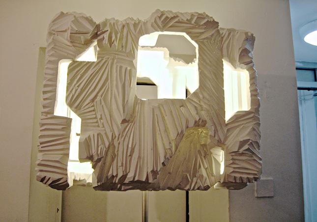 Brit Leissler Carved Light This Is By Hand Out Of Styrofoam Blocks Designed Gisela Stiegler Marionfriedmann