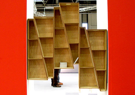 Arnold D3 Design Talents MAKE SHIFT Peter Marigold Presents His A Flexible Shelving System That Fills Up Any Niche